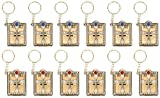 Juvale Bible Keychains - 12-Pack Mini Bible Keychain, Jesus Keychain, Miniature Holy Bible, Religious Keyrings, Religious Favors for Baptism, Church, Communion, English, Gold, 1.4 x 3.3 x 0.5 Inches