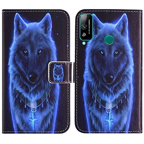TienJueShi Wolf Flip Book Stand Brieftasche Leder Tasche Schütz Hülle Handy TPU Silikon Hülle Für Huawei Honor Play 4T Pro 6.3 inch Abdeckung Wallet Cover Etüi