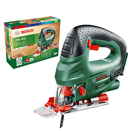 Bosch Cordless Jigsaw PST 18 LI (Without Battery, 18 Volt System, in Cardboard Box)