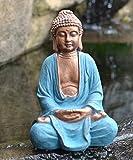 Estatua de Buda rezando grande, a las heladas y resistentes 28x...