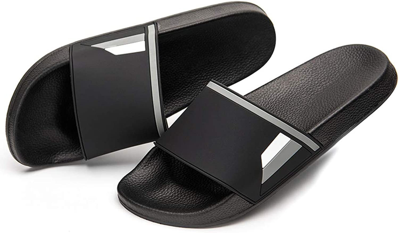 Ranberone Shower Slippers for Men and Women Anti-Slip Bathroom shoes Unisex Slide Sandals   Indoor Outdoor   Wide Fit