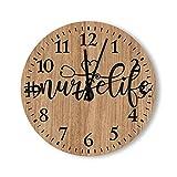 Wooden Clock Nurse Life-2 14 inch Wall Clock...