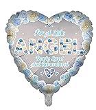 Globos de papel de aluminio de lujo con forma de corazón azul de ángel conmemorativo globos funerarios, globos de aluminio para mesa de memoria, memorial, condolencia, aniversario