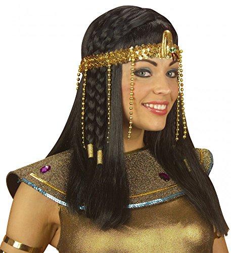 shoperama Egyptian Headdress with Snake and Pearls Gold Ägypterin Hair Headband Crown Pharaonin