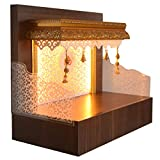 Durability: Water Resistent, sturdy, durable wooden mandir. New elegant modern mandir concept comes with inbuilt drawer with worlds best HETTICH telescopic slides which can be opened and closed with effortless ease and also has a detachable tray on t...