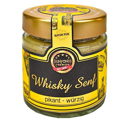 Altenburger Original Senfonie Premium Whisky Senf 180 ml, leicht körniger Senf mit Whisky verfeinert