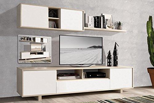 LIQUIDATODO ® - Muebles de salón modernos y baratos en color cambrian natural/blanco - artico