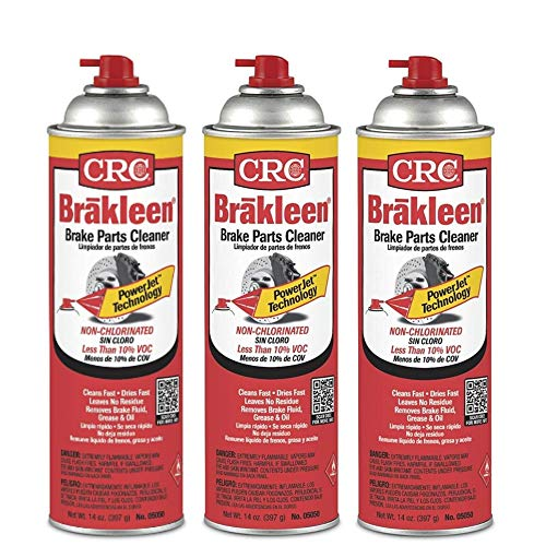 CRC Brakleen 05050 Brake Parts Cleaner - 50 State Formula PowerJet Technology (Pack of 3)
