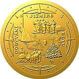 Conquest of The South Pole Exploradores Polares Moneda Oro 10$ Niue 2021