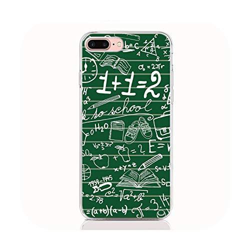 Para iPhones 12 11 Pro XS Max XR X 6 7 8 Plus SE 2020 TPU Carcasa trasera Formulas Matematicas para iPhone 12 pro caso nuevo teléfono cubierta A10-para iPhone 11Pro Max