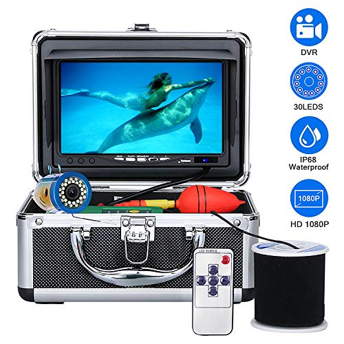 Underwater Fishing Camera, Anysun Fish Finder Camera with DVR Recorder Waterproof IP68 Underwater Viewing System 7'' Color LCD Monitor HD1080P with 15m/50ft Cable for Ice, Lake, Boat, Sea Fishing