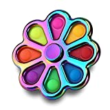 Kiss Monkey Flower Simple Dimple Fidget Spinner, Fidget Toy, Multi-Color Sensory Toy, Fidget Spinner pop Toys, Autism Special Needs Stress Reliever, Relieve Emotional Stress for Kids and Adults