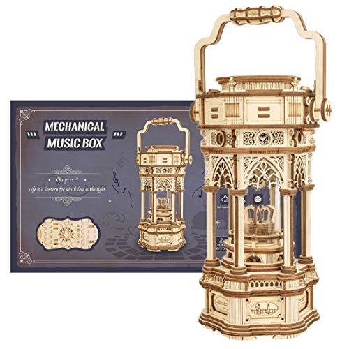 Bybo 3D Puzzle Hölzerne Modell Victorian Lantern DIY Laserschnitt Spieluhr Holzpuzzle Modellbausatz für Kinder Erwachsene 210St