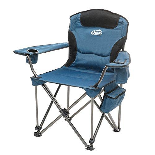 Qeedo Camping-Stuhl XXL Johnny Jumbo bis 250 kg, Klappstuhl mit Getränkehalter, Festivalstuhl - blau