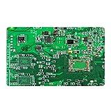 WAXB Impresión De Alfombrillas Placa De Circuito Computer Geek - Felpudo Verde Alfombra Personalizada Alfombra De Puerta Decoración De La Habitación