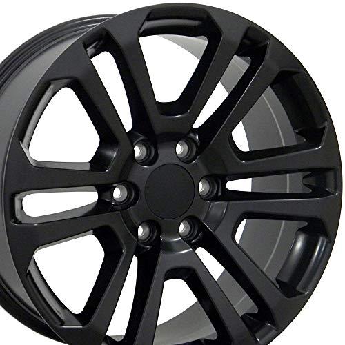 OE Wheels LLC 20 inch Rim Fits GMC Sierra Wheel CV99 20x9 Black Wheel Hollander 4741