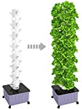 SuiteMade 45-Plant Vertical Hydroponic Tower System with Internal Watering System, BPA-Free, Great for Growing a Variety of Vegetables & Herbs (45-Plants)