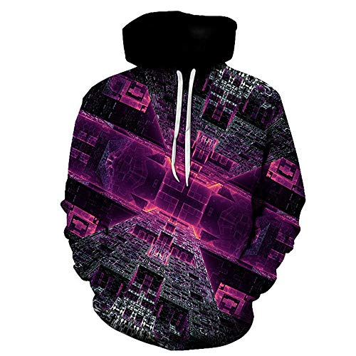 PRJN Mens 3D Long Sleeve Hoodie Unisex 3D Hoodie Sweatshirt Printed Hoody Drawstring Pullover with Pocket 3D Mens Hoodie Multi Coloured Tops Casual Pullover Long Sleeve Fleece Hoody with Pockets