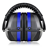 プロフェッショナルNRR34dB 聴覚保護 ヘッドバンド式 フリーサイズ 大人&子供用 ブルー