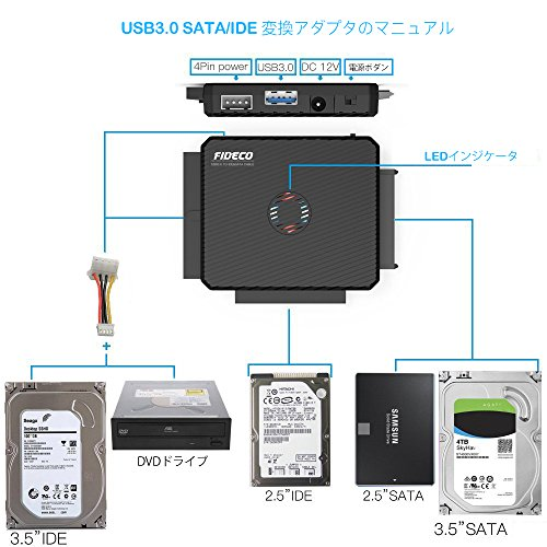 FIDECO『SATA/IDEハードディスク変換アダプタ(PL03)』
