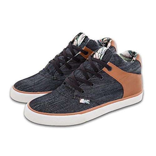 Djinns Shoes Chunk Denim Aloha Black, Schwarz - Schwarz  - Größe: 42.5 EU