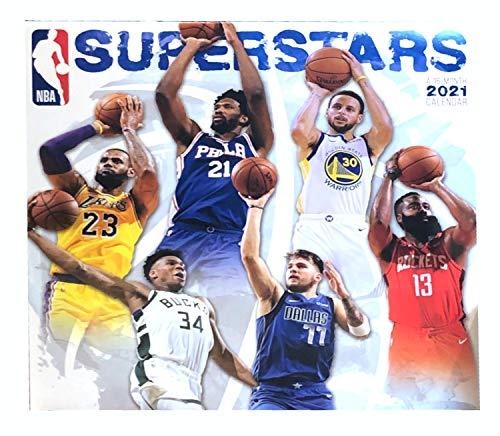 NBA Basketball Superstars - 16 Month 2021 Wall Calendar