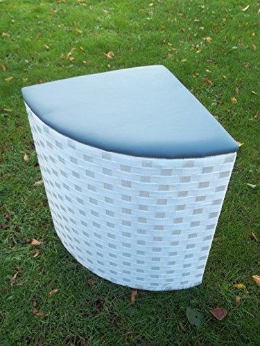Eckwäschetruhe, Wäschekorb, Sitztruhe mit Polster, in Zwei Größen, weiß, Größe 2