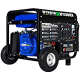 DuroMax XP12000EH Dual Fuel Portable Generator - 12000 Watt Gas or Propane Powered-Electric Start- Home Back Up & RV Ready, 50 State Approved