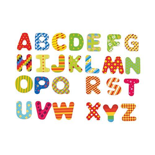 WFF Spielzeug Kinderfrüherziehung Spielzeug Holz 26 englische Alphabet magnetische Aufkleber Lernspielzeug Englisch Magnet Lehrmittel Kühlschrank Aufkleber (Color : 1set)