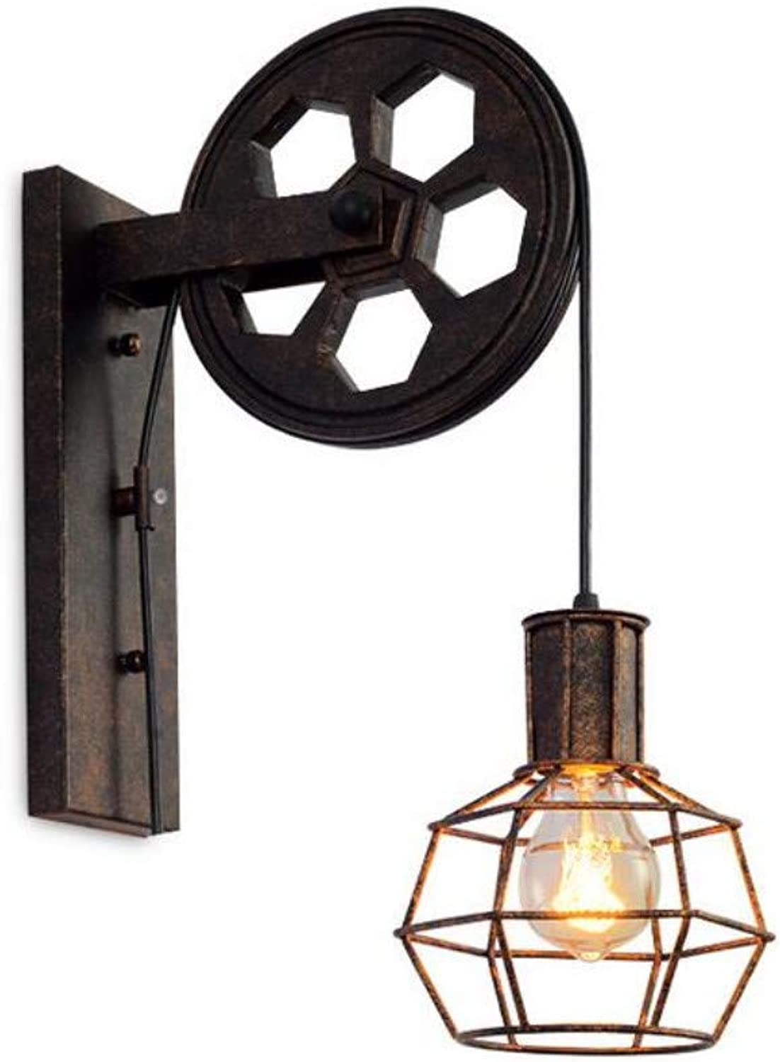 Wall Lamp Retro Industrial Wind Iron Lifting Wall Lamp Restaurant Staircase Corridor Pulley Wall Lampe
