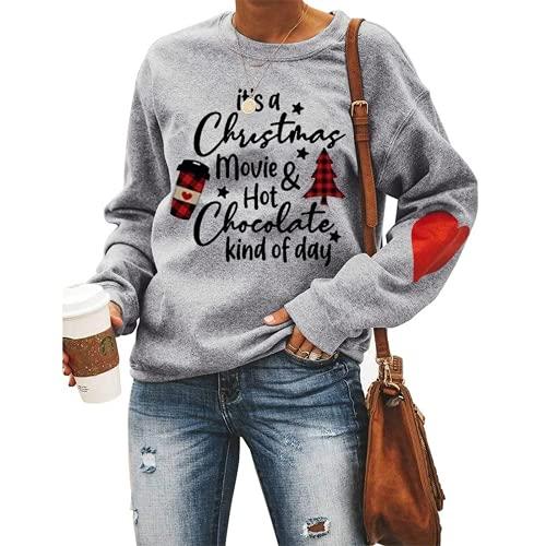 노피시 여성 크리스마스 영화와 핫 초콜릿 종류의 데이 스웨터