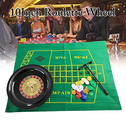 10 Zoll Roulette Rad Poker Chips Set, Party Roulette Rad Set, Fun Leisure Borad Games Unterhaltung Tischspiele für Erwachsene Kinder