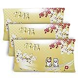 マスクケース お年賀 招福 使い捨て 猫 マスク猫 持ち運び 紙製 マスク 不織布 携帯用 3個