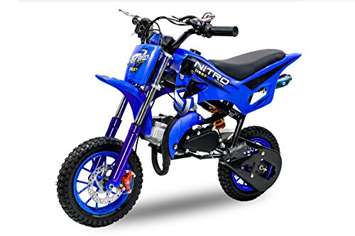 Nitro Motors Dirtbike Crossbike DS67 49cc Dirt Cross Pocket Bike (Schwarz-Blau)