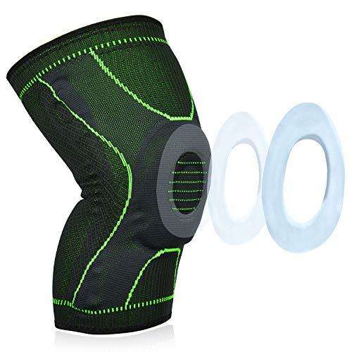 Lepfun P1566 Rodilleras Deportivas (1 Unid) Rodillera de compresión para Crossfit Correr Deportes Baloncesto Desgarro de Meniscos Artritis Alivio para el Dolor en Las Articulaciones(X-Large)