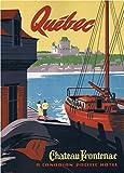 World of Art Vintage Travel Kanada für Chateau Frontenac