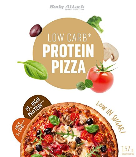 Body Attack, Protein Low Carb Pizza Backmischung - High Protein und nur 5,9g Kohlenhydrate, 1er Pack (1x 157g)