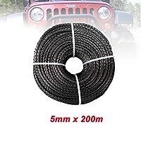 4WD 4x4 ATV UTVボートの回復のための5mm * 200m合成ウィンチライン繊維ロープ (Color Name : Gray)