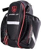 Jilibaba, borsa da bicicletta impermeabile per sella, borsa per bicicletta, con doppia gabbia per biberon, borsa da bicicletta