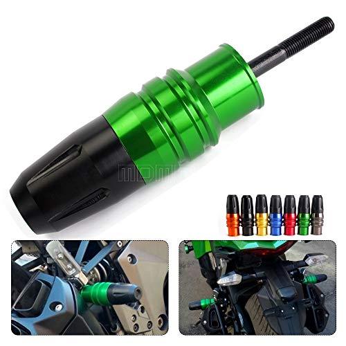 WONYAN Motorfiets Onderdelen Motorcycle Uitlaat Slider Crash Protector for Kawasaki Z750 Z800 Z300 zx9r zx12r Zx14r Z 800 Zx 12r 9.R Ninja 300 250 Z650 Z900 (Color : Green)