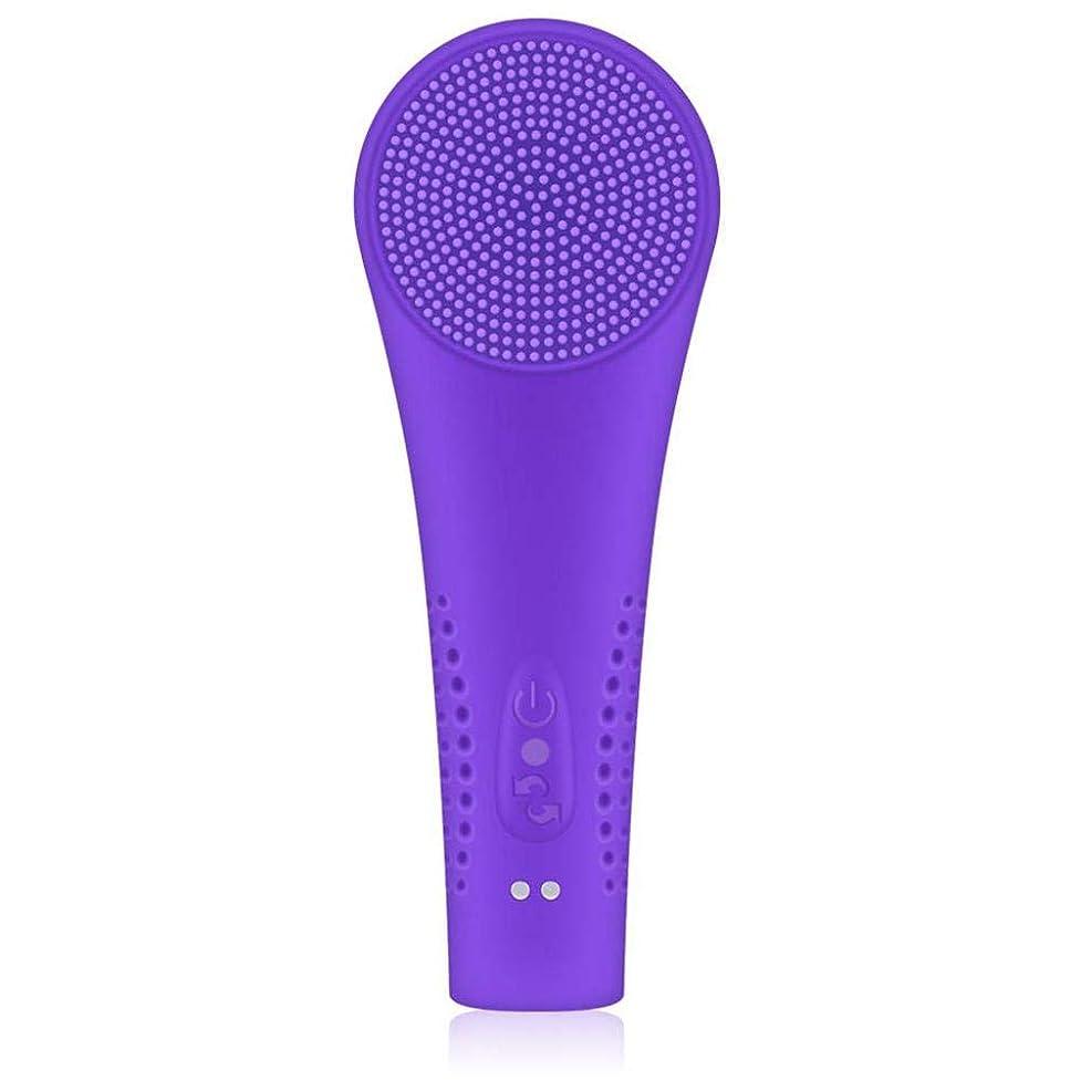 確認するフォアタイプ分解する電気洗顔器 シリコーン洗浄器 洗顔器具 超音波 洗顔ブラシ 電気シリコーンクレンジング器具美容器具洗浄メーター磁気充電ダブルブラシヘッドusb