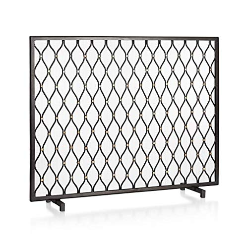 CHHD Amerikanische einfache schmiedeeiserne Kamintür New Black Decorative Floor Partition Screen Wohnzimmer Home Iron Fence Indoor Weihnachtsdekoration