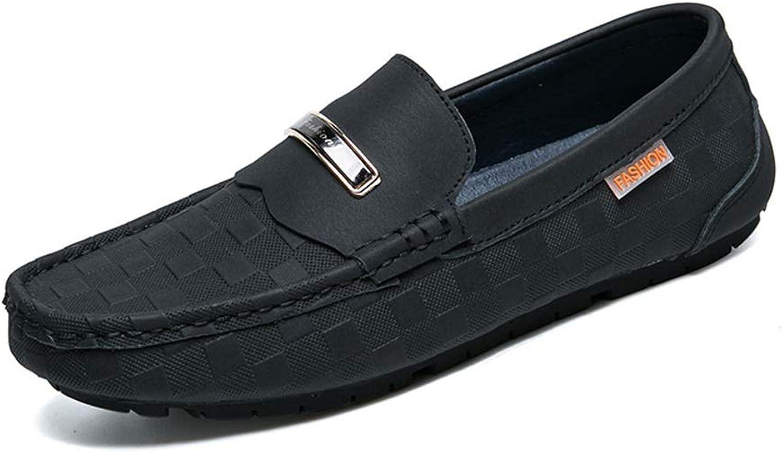 EGS-schuhe Driving Loafers for Men Echtes Leder Business Business Casual Stiefelschuhe Flache leichte dünne atmungsaktive Slip-on Round Toe Vegan Schuhe,Grille Schuhe (Farbe   Schwarz, Größe   39 EU)  Verkaufsstelle