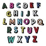 Parches para ropa Dibujos animados de color 26 pegatinas de alfabeto inglés Gire Ding puesto en el nombre del parque Decoración de bordados Decoración de reparación Mark Fashion Lane (1 set por paquet