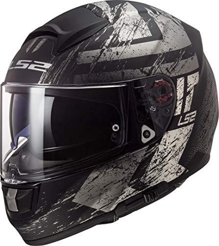 LS2 Casco Integral Vector Hunter negro mate, Titanium, talla L