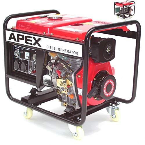 E-Start Diesel Generator Stromerzeuger Notstromaggregat 2500 AWZ Stromaggregat E6283, 3.1kW, 211ccm Diesel, Elektro Starter