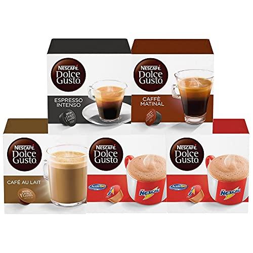 50 Capsulas Dolce Gusto, Capsula Café, Espresso, Nescau, Cappuccino, Chococino