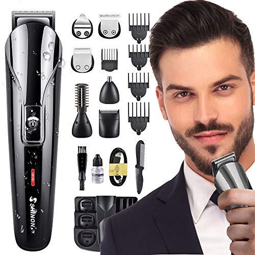 Haarschneider Bartschneider für Männer Professionelle Haarschneider Nasenhaarschneider, multifunktionale Präzisionsschneider 6 in 1, batteriebetrieben und elektrisch, wasserdicht
