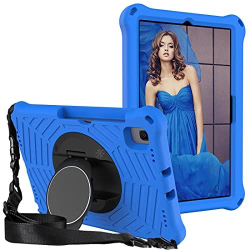 GOZOPO - Custodia compatibile con Samsung Galaxy Tab A7 10.4, SM-T500 T505, con tracolla e custodia antiurto per bambini, colore: Blu