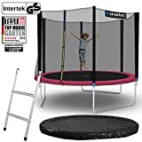 Kinetic Sports Outdoor Gartentrampolin Ø 305, TPLS10, inklusive Sprungtuch aus USA PP-Mesh...